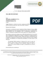 Carta del Director del DATT al representante legal de Proplayas