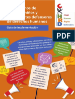 Los Derechos de Las Ninas Ninos y Adolescentes Defensores de Derechos Humanos Web