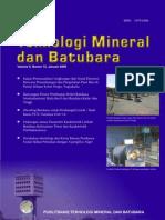 Teknologi Mineral Dan Batubara 2009