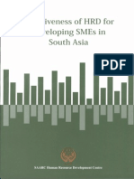 Effectiveness of HRD for Developing SMEs in South Asia