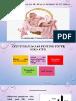 Evidence Based Dalam Pelayanan Kesehatan Neonatal