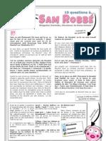 10 questions à Sam Robbé