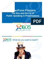 Power Point Pointers - Tips for Public Speaking