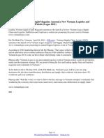 Vietnam Supply Chain Insight Magazine Announce New Vietnam Logistics and Supply Chain Exhibition Website (Logso 2011)