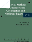 Numerical Methods for Unconstrained Optimization and Nonlinear Equations Classics in Applied Mathematics