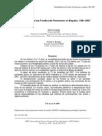 Rentabilidad de los Fondos de Pensiones en España. 1991-2007