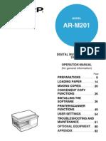 Manual Sharp Ar-m201