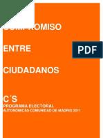 PROGRAMA CIUDADANOS (C´S) ELECCIONES AUTONÓMICAS MADRID 2011