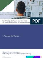DGNB_Thema 1_Nachhaltigkeit Planen und Bewerten