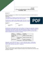 Process Synchronization & Disk Scheduling_criticalRegionOfCodeAndHardDiskProblems_Tut-7 With Solution[1]