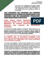 Hoja CCOO Pi Secretarios 2009 Nota SGobierno Derechos Sustitutos 20-Abril 2011[1]
