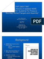 Presentation Pvp 2009 Summary Review of Updated Asme Pcc 1 20xx