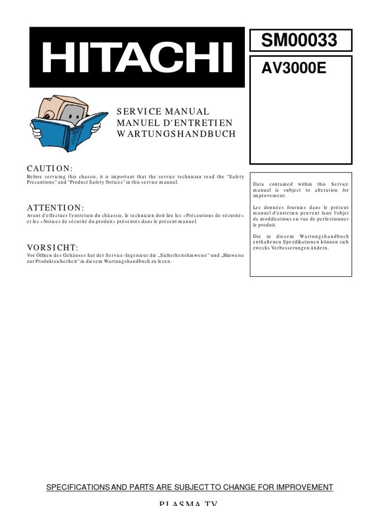 hitachi vt fx6400a vcr repair manual