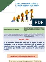 Manejo de La Historia Clinica Del Niño