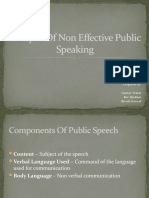 Analysis of Non Effective Public Speaking