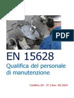 EN 15628 Qualifica del personale di manutenzione Rev. 00 2020