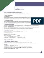 LAS APPROCHANTS 2013 Repertoire Dossier Creation de Chanson1