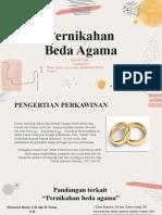 PPT Kelompok 8 Pernikahan Beda Agama