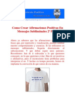 Como Crear Afirmaciones Positivas En Mensajes Subliminales 2ª Parte