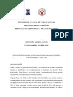 EDUCAÇÃO POPULAR EM SAÚDE - proposta de intervenção para diabeticos