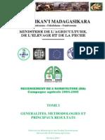 Recensement de l'agriculture (RA) pour la campagne agricole 2004-2005 - Tome I
