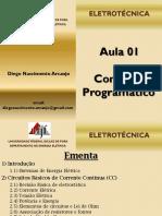 Eletrotécnica - Aula 1 - Conteúdo Programático