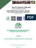 Recensement de l'agriculture (RA) pour la campagne agricole 2004-2005 - Tome II