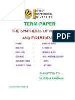 SYNTHESIS OF PURINES AND PYRIMIDINE