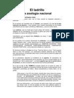 EL LADRILLO La zoología nacional
