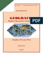 Geografie – Mapă Cu Fişe Pentru Recapitulare, Clasele VI-VII (Proiect)