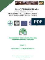 Recensement de l'agriculture (RA) pour la campagne agricole 2004-2005 - Tome V