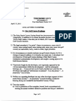 Golf Course Problem 2011, Theodore Levy Letter & Second Coalition Document Regarding Mizner Trail Golf Course, April 17, 2011