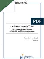 La France dans l'OTAN. La culture militaire française et l'identité stratégique en question