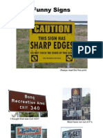 5586 Funny Signs