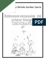 Evaluaciones Geografía BEL 4°