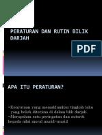 Peraturan Dan Rutin Bilik Darjah Pbd