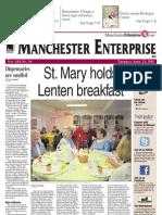 Manchester Enterprise front page, 4-21-2011