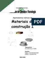 Engenharia Civil - Construção - Apontamentos Teóricos de Materiais de Construção I