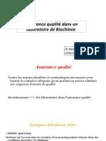 Assurance Qualité Dans Un Laboratoire de Biochimie_104212