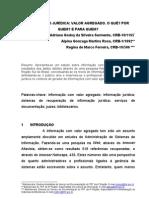 INFORMAÇÃO JURÍDICA VALOR AGREGADO