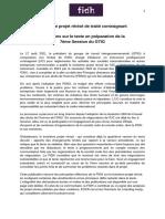 [FR] FIDH Commentaire Préliminaire 3rd Revised Draft-FR