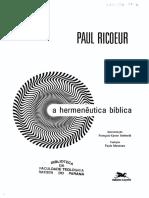 Paul Ricoeur - A Hermenêutica Bíblica