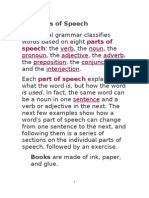 English - The Parts of Speech