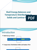 Shell Energy Balances and Temperature Distribution in Solids and Laminar Flows