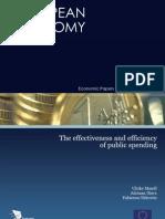 Effectiveness and Efficiency in Public Spending