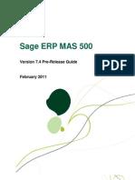 Sage MAS 500 7 4 Pre-Release Guide-20110301
