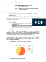 Relatórios Monitoramento Exercito Pl1645 Redes Sociais e Revista Sociedade Militar