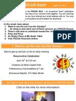 FOCUS Alert - April 20, 2011