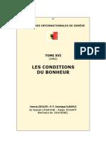 Rencontres internationales de Genève tome XVI Les conditions du bonheur