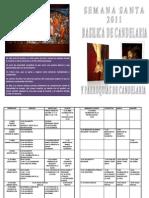 Programa Semana Santa 2011 Candelaria